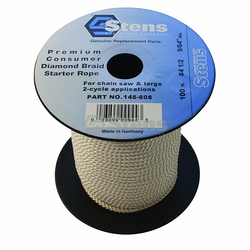 100' Diamond Braid Starter Pull Rope Cord #4-1/2 Chain Saw Push Lawn Mower