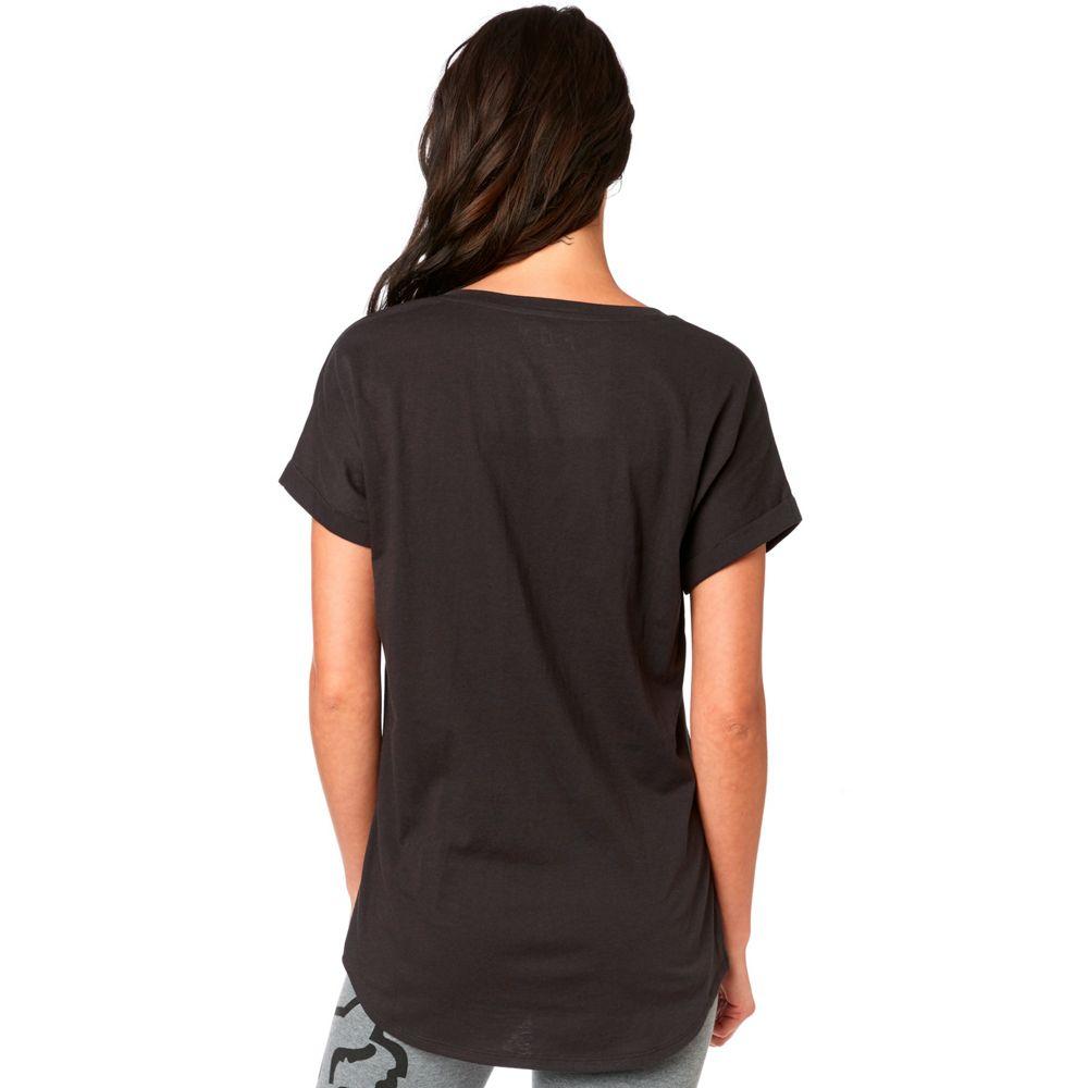 Fox Womens Responded Short V-Neck Roll Sleeve T-Shirt