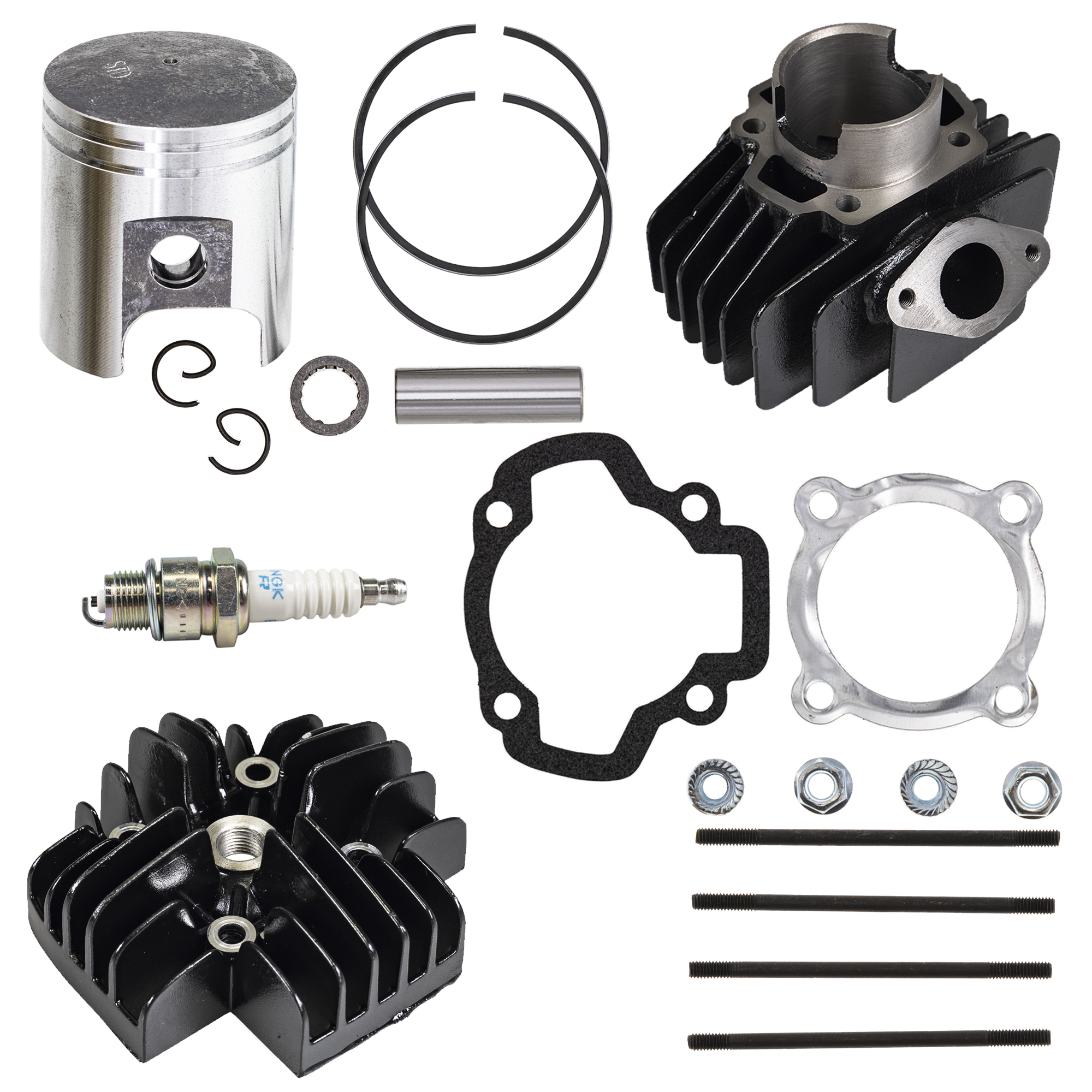 FIT FOR Yamaha PW50 Bore Cylinder Piston Rings Gasket Head Top End Kit 1981-2017