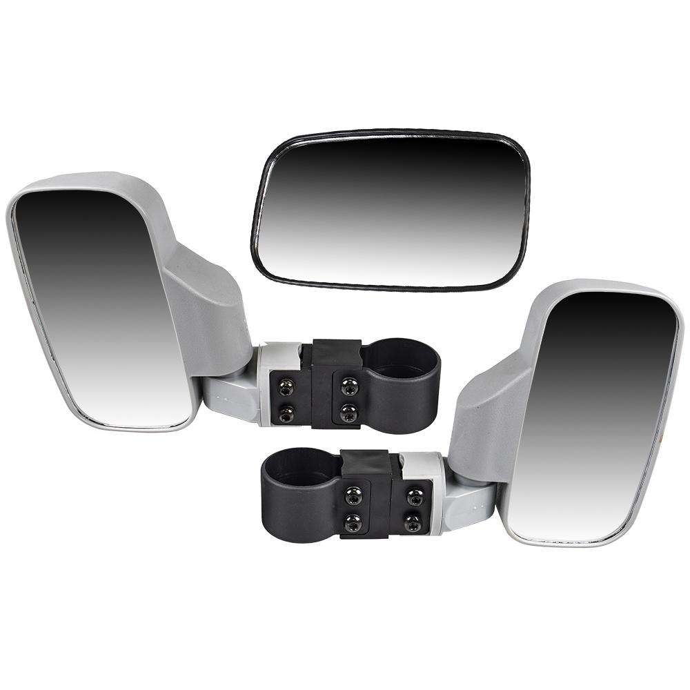 Blue Rear View Mirror 1998-2019 Polaris Ranger RZR XP Crew 570 700 800 900 1000