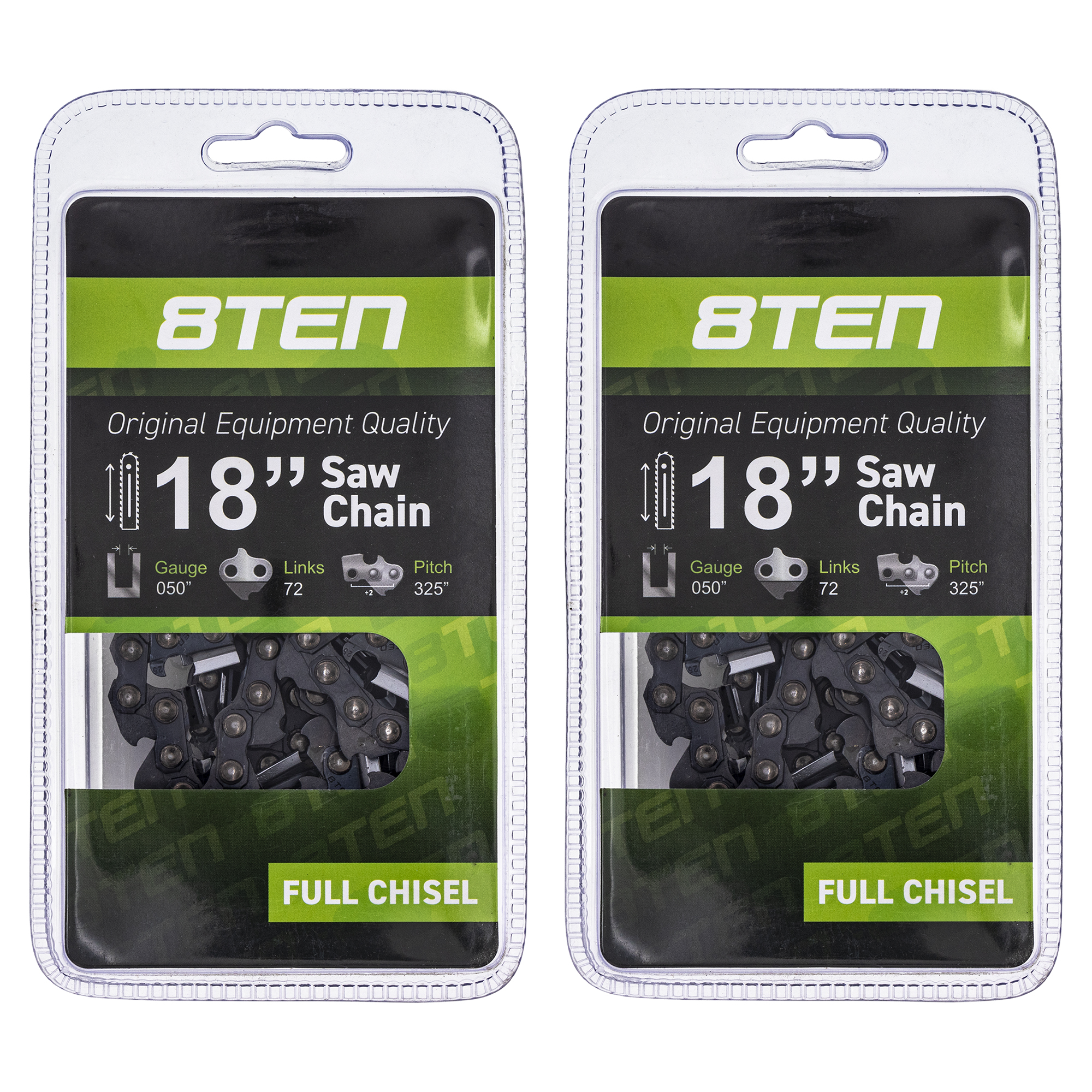 """6-Pack 18/"""" Semi Chisel Chainsaw Chain for Echo cs 400 440-0.325/"""" 0.050/"""" 72 DL"""